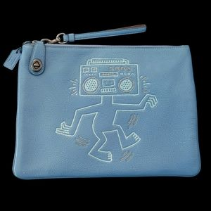 Coach x Keith Haring Boombox Monster Wristlet